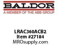 BALDOR LRAC360ACB2 LR 2.4 600V MAX. 3PH 360A .061MH