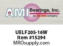 AMI UELF205-16W 1 WIDE ACCU-LOC WHITE 2-BOLT FLANGE