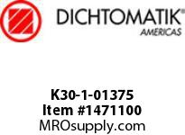 Dichtomatik K30-1-01375 PISTON SEAL PTFE SQUARE CAP PISTON SEAL WITH NBR 70 DURO O-RING INCH - 5pc MINIMUM ORDER