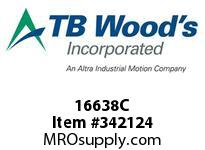 TBWOODS 16638C 16X6 3/8-SF CR PULLEY