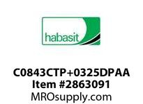 "Habasit C0843CTP+0325DPAA 843 Chamfer Top Plate 3.25"" Acetal"
