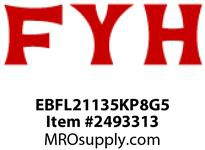 FYH EBFL21135KP8G5 2 3/16 ND SS 2B (NARROW-WITH) RE-LUBE