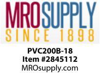 """MRO OPEN ENDS BY WIDTH MATERIAL:PVC200 BLACK C x FS WIDTH: 18"""""""