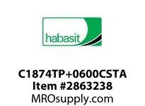 """Habasit C1874TP+0600CSTA 1874 Tab 6"""" Top Plate Carbon Steel"""