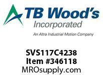 TBWOODS SVS117C4238 SVS-117-C4X2 3/8 ADJ SHEAVE