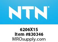 NTN 6206X15 SMALL SIZE BALL BRG