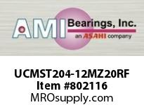 AMI UCMST204-12MZ20RF 3/4 KANIGEN SET SCREW RF STAINLESS TAKE-UP SINGLE ROW BALL BEARING