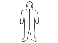 West Chester 3709/XXXXL Posi-Wear UB - White Coverall zipper front w/Elastic Wrist/Ankle & attached Hood/Boot