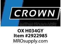 Crown OX H034GY 361 - Oxford 3 x 4 Black/Gray