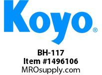 Koyo Bearing BH-117 NEEDLE ROLLER BEARING DRAWN CUP FULL COMPLEMENT