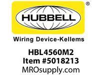 HBL_WDK HBL4560M2 LKG SGL RCPT 15A 250V L6-15R GRAY