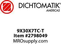 Dichtomatic 9X30X7TC-T NITRILE DOUBLE LIP SPRING FULLY RUB SHAFT SEALS