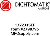 Dichtomatic 172231SEF DESIGN SPECIAL SHAFT SEALS