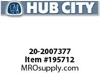 HUBCITY 20-2007377 75S 39.85/1 S 4.438 PARALLEL SHAFT DRIVE