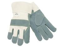 MCR 1500KXL Side Leather Palm White Fabric Sewn w/Kevlar XL