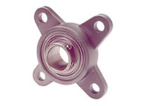 Dodge 127692 F4B-SCEZ-104S-SHCR BORE DIAMETER: 1-1/4 INCH HOUSING: 4-BOLT FLANGE HOUSING MATERIAL: STAINLESS STEEL
