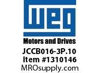 WEG JCCB016-3P.10 3P 16A AND 1NO CON CWC DC COIL Contactors