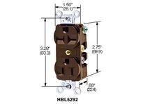 HBL-WDK HBL4795 LKG COMBO DUP RCPT NEMA 5&L5-15R