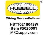 HBL_WDK HBTT021804SW WBPRFRM RADI T2Hx18W TO 4WSTLWLL