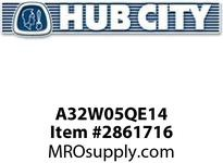 HUB CITY A32W05QE14 320 ASSY WORM INTG 5/1 143TC Service Part