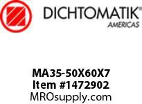 Dichtomatik MA35-50X60X7 ROD SEAL POLYURETHANE 92 DURO ROD SEAL METRIC