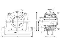 TIMKEN FSAF 22518 X 3 1/8 SRB Pillow Block Assembly