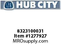 HubCity 8323100031 BEARING NEEDLE M-16161 OR EQ