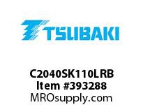 US Tsubaki C2040SK110LRB C2040 RIV 10L/SK-1