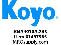 Koyo Bearing RNA4910A.2RS NEEDLE ROLLER BEARING SOLID RACE CAGED BEARING