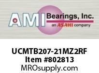 AMI UCMTB207-21MZ2RF 1-5/16 ZINC SET SCREW RF STAINLESS PLW BLK SINGLE ROW BALL BEARING