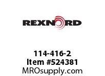 REXNORD 114-416-2 KU1700-10T 1-1/2^SQ 142695