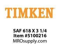 TIMKEN SAF 618 X 3 1/4 SRB Pillow Block Housing Only