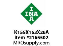 INA K155X163X26A Needle roller cage assembly