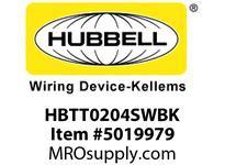 HBL_WDK HBTT0204SWBK WBPRFRM RADI T 2Hx4W BLACKSTLWLL