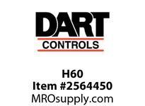 Dart H60 Sensor disk only 60 pulses per revolution