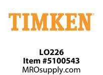 TIMKEN LO226 SRB Plummer Block Component