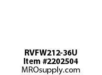 PTI RVFW212-36U PILOTED 4-BOLT FLANGE BEARING-2-1/4 RVFW 200 SILVER SERIES - NORMAL DUT