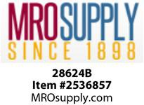 MRO 28624B 1/2 X 3/8 BLK POLY RED HEX NIPL (Package of 10)