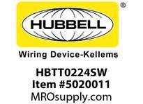 HBL_WDK HBTT0224SW WBPRFRM RADI T 2Hx24W PREGALVSTLWLL