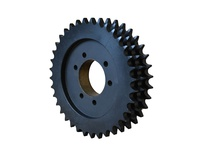 E100F45 Triple Roller Chain Sprocket QD Bushed