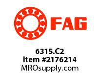 FAG 6315.C2 RADIAL DEEP GROOVE BALL BEARINGS