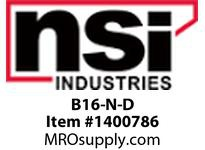 NSI B16-N-D 16-14 NYLON INSULATED BUTT CONNECTORS STANDARD PK 50