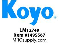 Koyo Bearing LM12749 TAPERED ROLLER BEARING