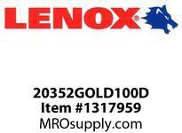 Lenox 20352GOLD100D LENOX EDGE-GOLD100D BIMETAL UTILITY