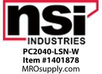 NSI PC2040-LSN-W 2 X 4 LOK-SLOT PANEL CHANNEL NARROW FINGER (WHITE) - COVER INCLUDED
