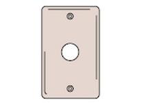 HBL-WDK NP737 WALLPLATE 1-G .625 OPNG BOX MT BR