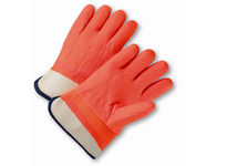 West Chester 1017ORF Safety Cuff Orange Foam Lined Rough Finish PVC Glove
