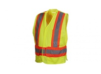Pyramex RCA2710M Hi-Vis Lime Vest with Contrasting Reflective Tape - Size Medium