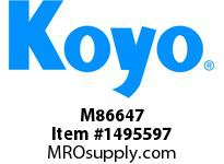 Koyo Bearing M86647 TAPERED ROLLER BEARING
