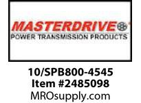 MasterDrive 10/SPB800-4545 10 GROOVE SPB SHEAVE